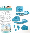 Sello Caucho Mya 0109 Set Casas 8un