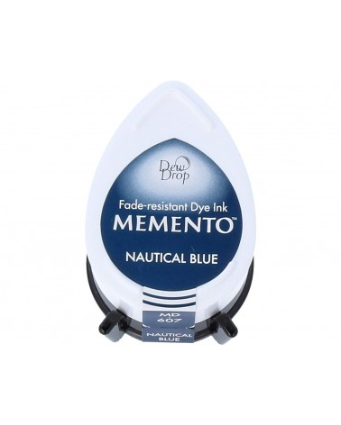 Tinta MEMENTO color azul náutico translúcida. Almohadilla gota