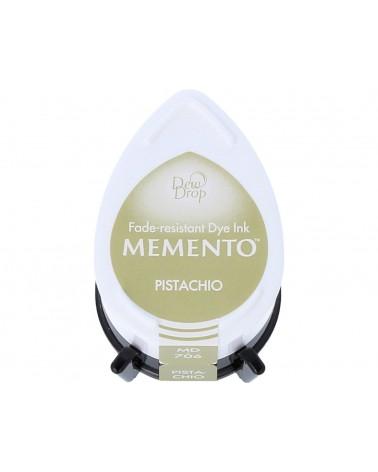 Tinta MEMENTO color pistacho translúcida. Almohadilla gota