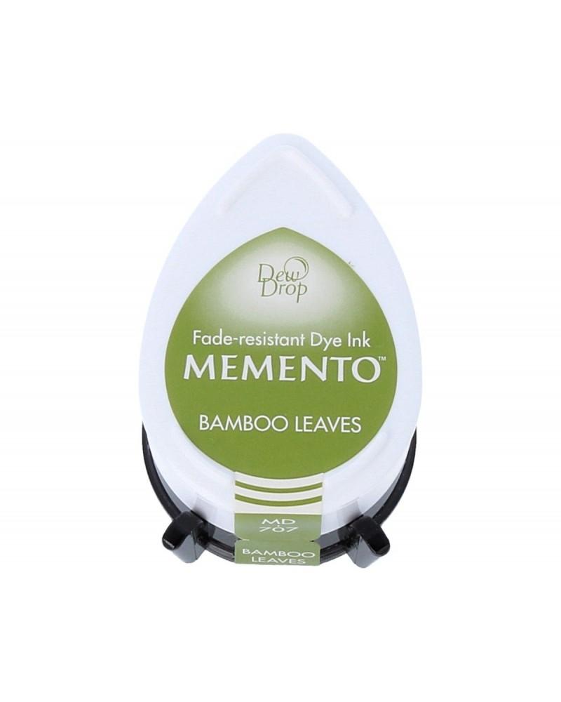 Tinta MEMENTO color hojas de bambú translúcida. Almohadilla gota