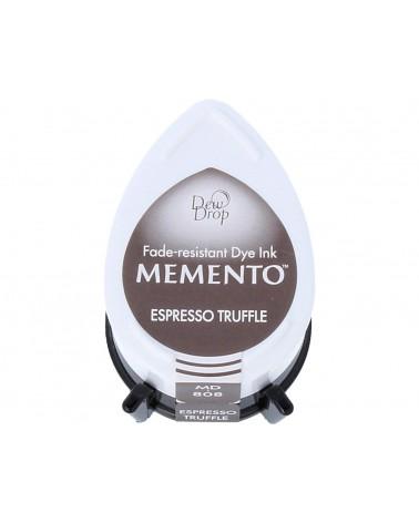 Tinta MEMENTO color trufas de café translúcida. Almohadilla gota