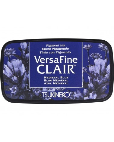 Tinta VERSAFINE CLAIR color azul medieval. Almohadilla
