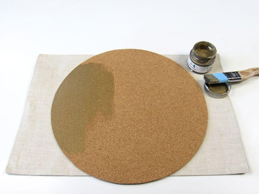 Crear individual de corcho con metallic mya chalkpaint de TodoStencil
