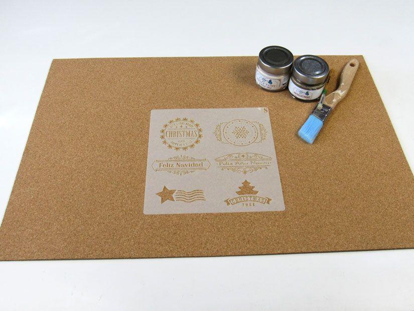 Individual para Navidad diy con stencil y mya chalkpaint de TodoStencil