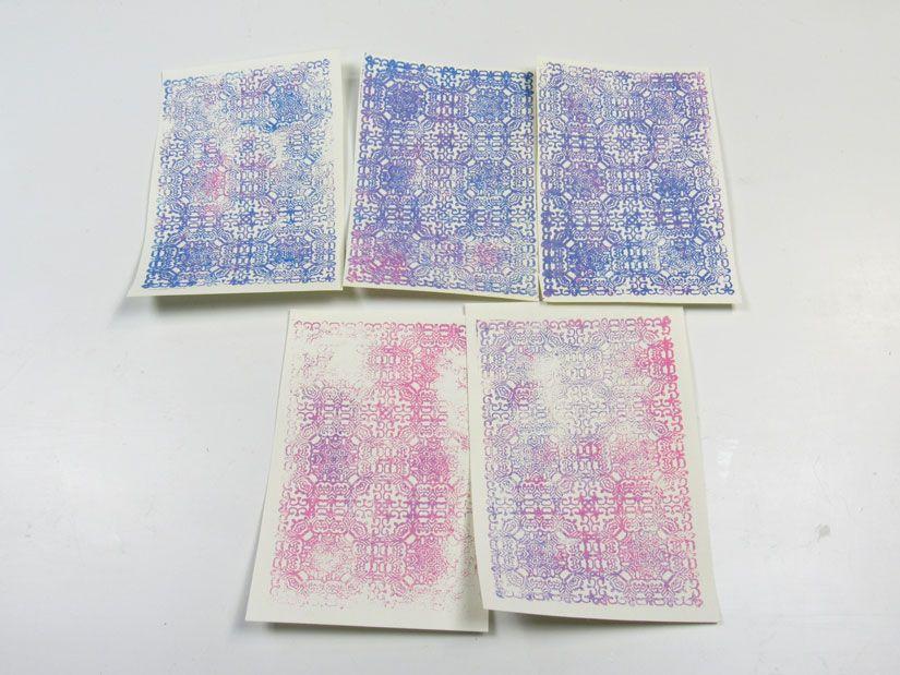 Papel diy con sello de caucho Mya de TodoStencil
