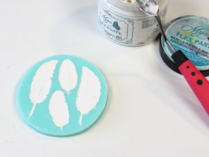 Crear elementos decorativos con Mya Flex Paste de TodoStencil