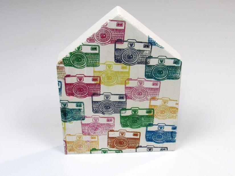 Decoupage servilleta impresa con estampación con sello caucho Mya de TodoStencil