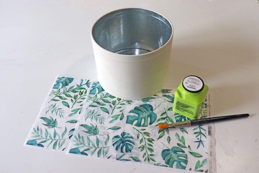 Customizar una lata con mya chalkpaint y papel de arroz de Todo Stencil