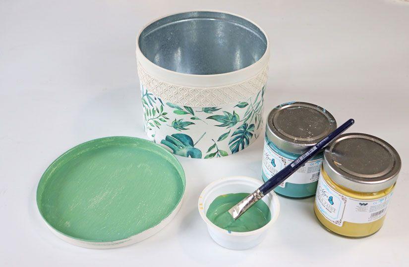 Customizar una lata con mya chalk paint de Todo Stencil