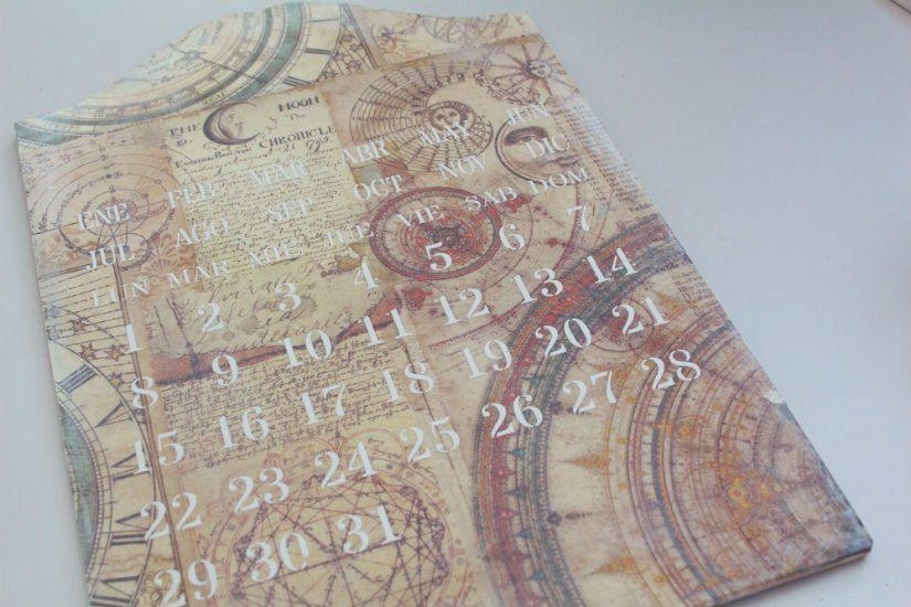 paso a paso calendario perpetuo de madera de TodoStencil