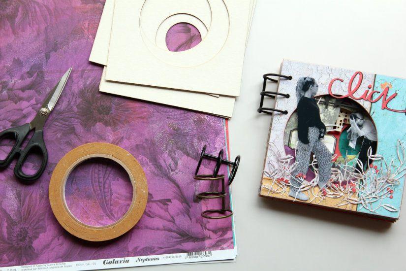 materiales album exocentrico scrapbooking de TodoStencil