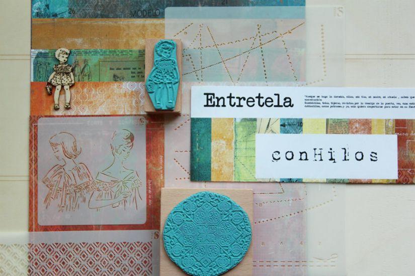 entretela colección scrapbooking diseñada por conHilos para TodoStencil