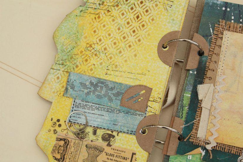 detalle página álbum entretela, stencil de TodoStencil