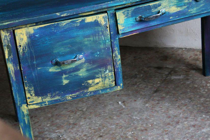 escritorio boho chic con mya chalk paint de TodoStencil