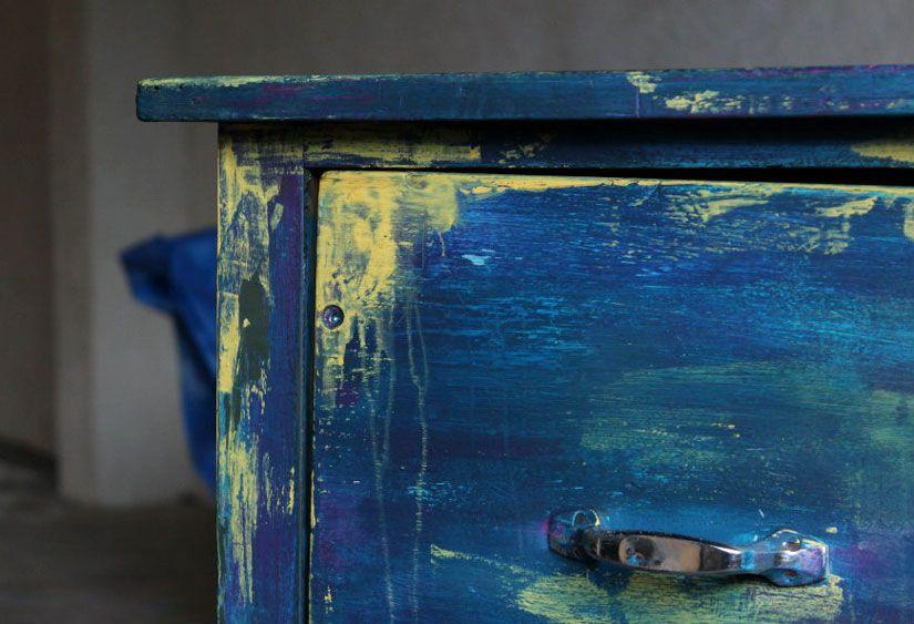 escritorio boho chic con Mya chalkpaint de Todo Stencil