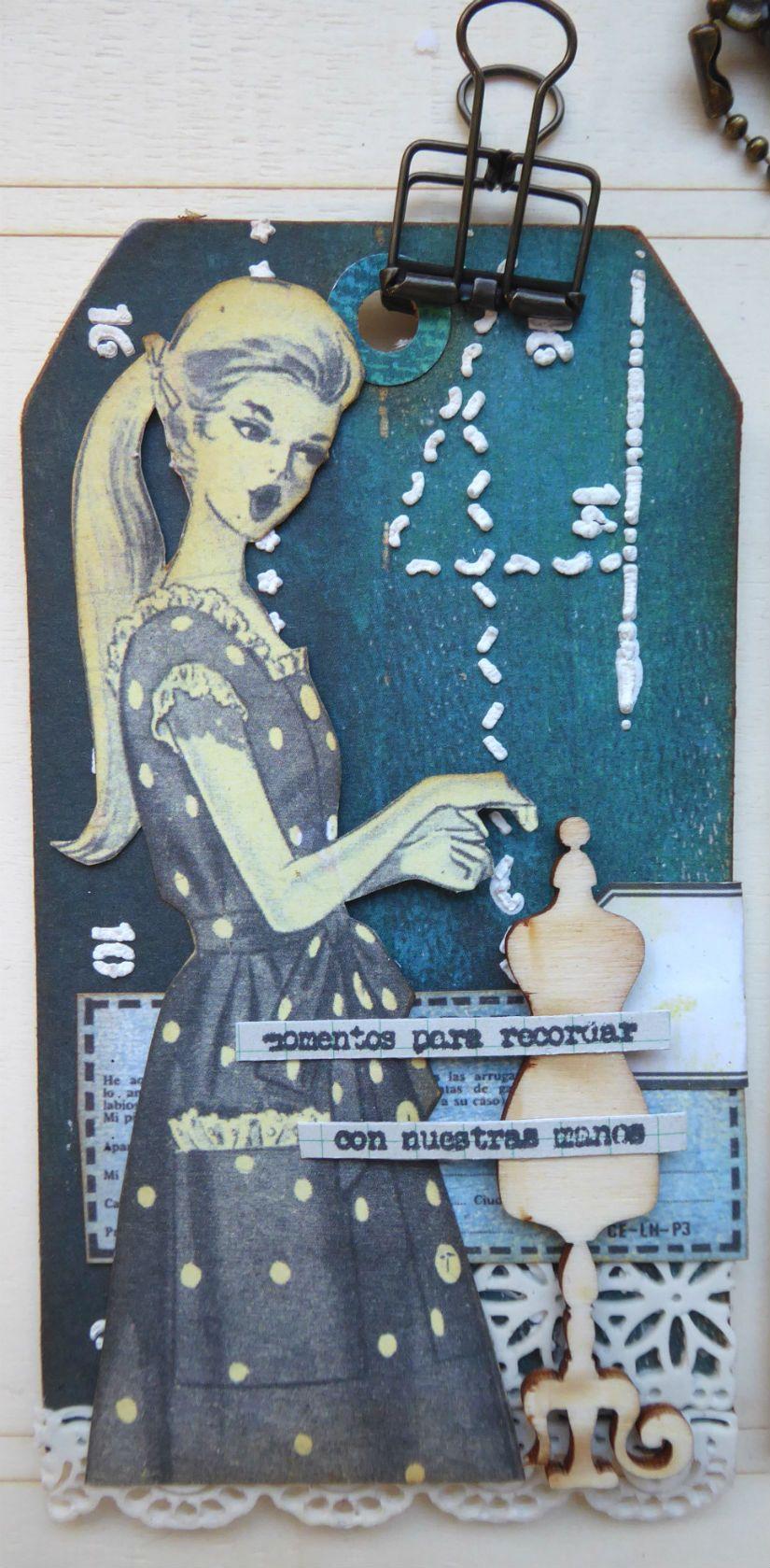Tag colección entretela, stencil y foam paint Mya de TodoStencil