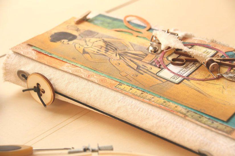 Tutorial cuaderno de costura con la colección Entretela de Aurora Almunia para Todo Stencil