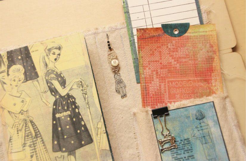 Cuaderno de costura con la colección Entretela de Todo Stencil