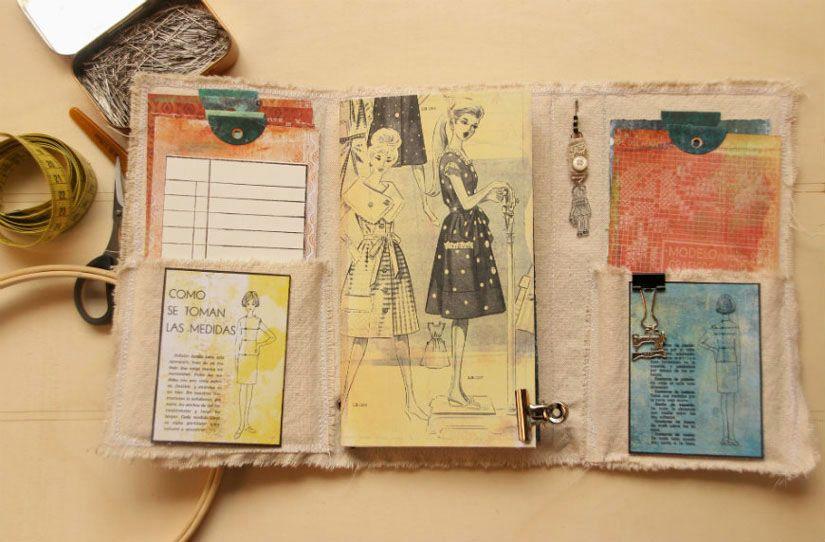 Cuaderno de ostura con la colección Entretela de Todo Stencil