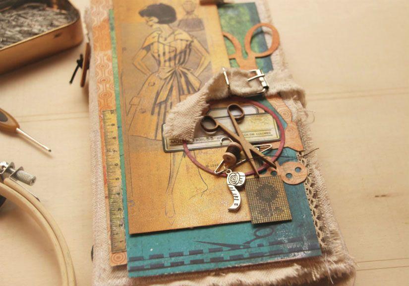 Libreta de costura con la colección Entretela por Aurora Almunia para Todo Stencil