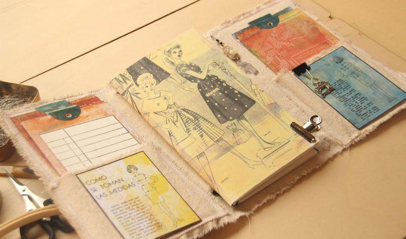 Libreta de costura con la colección Entretela de Todo Stencil