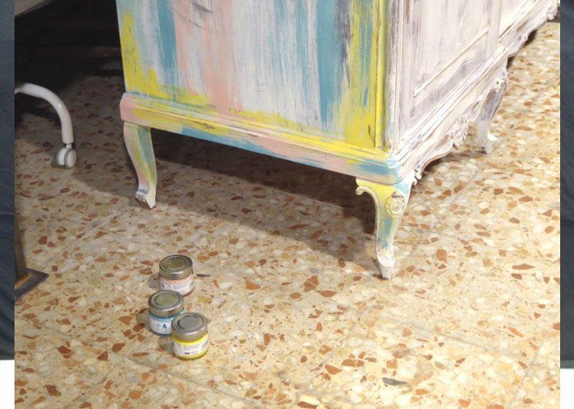 restaurar mueble con chalk paint y stencil de TodoStencil
