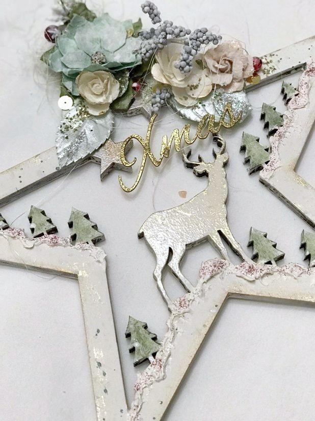 todostencil estrella navidad