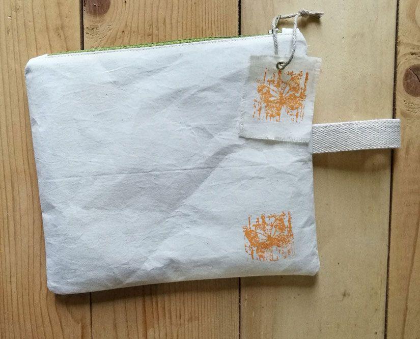 Portamerienda y etiqueta decorada con stencil y sello Mya de TodoStencil