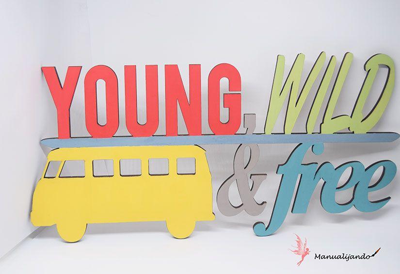 furgoneta de madera pintada con Mya chal paint