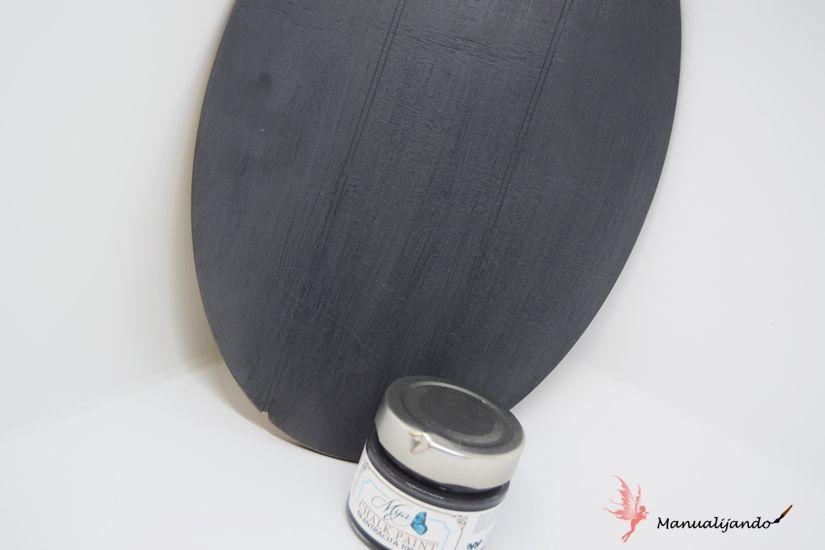 colgado con soporte de madera pintado con mya chalkpaint de TodoStencil