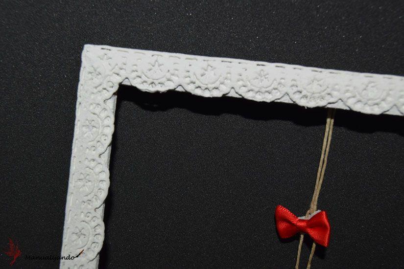 Detalle marco decorado con puntilla de Mya Flex Paste de TodoStencil