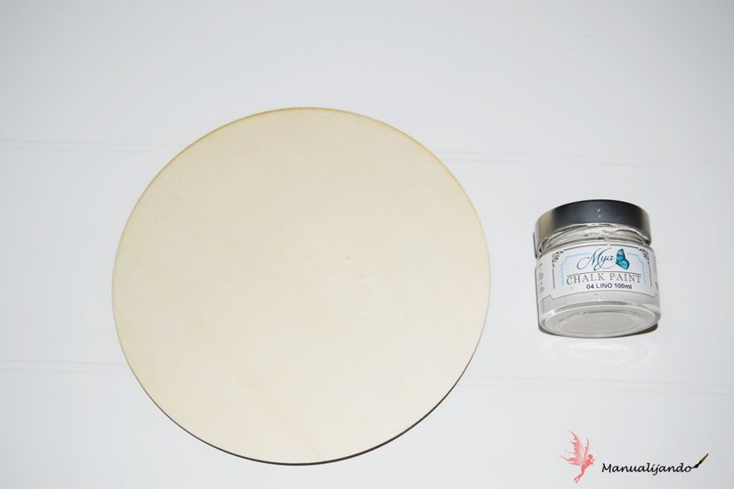 Diy atrapasueños con soporte de madera, stencil, chalkpaint y foam paint Mya de TodoStencil