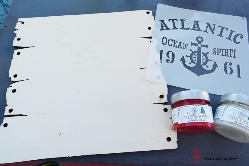 Material para cartel marinero de Todo Stencil