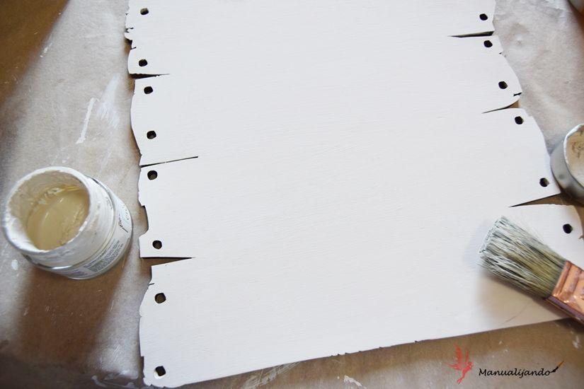 Cartel marinero madera con Mya chalk paint de TodoStencil