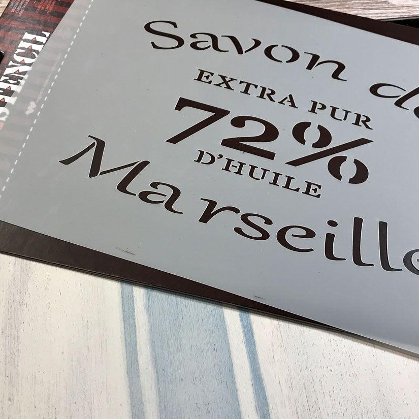 cartel french style con markal, mya chalkpaint y stencil de TodoStencil
