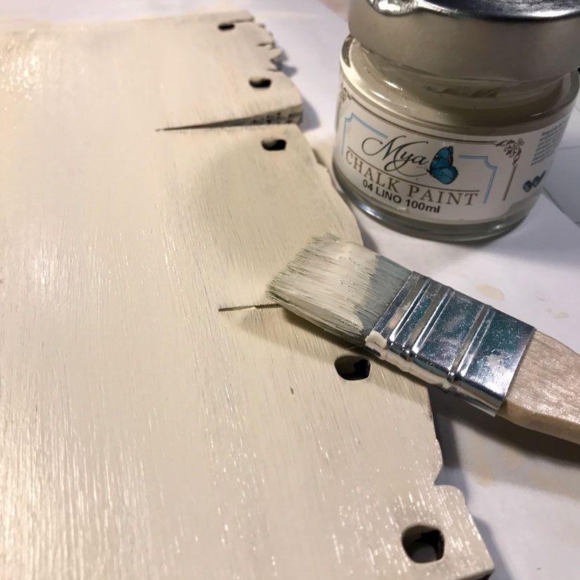 Cartel de madera French Style con mya chalkpaint de TodoStencil