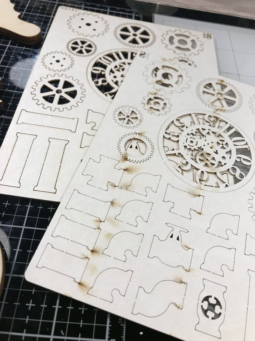 Engranajes cartón de Todo Stencil