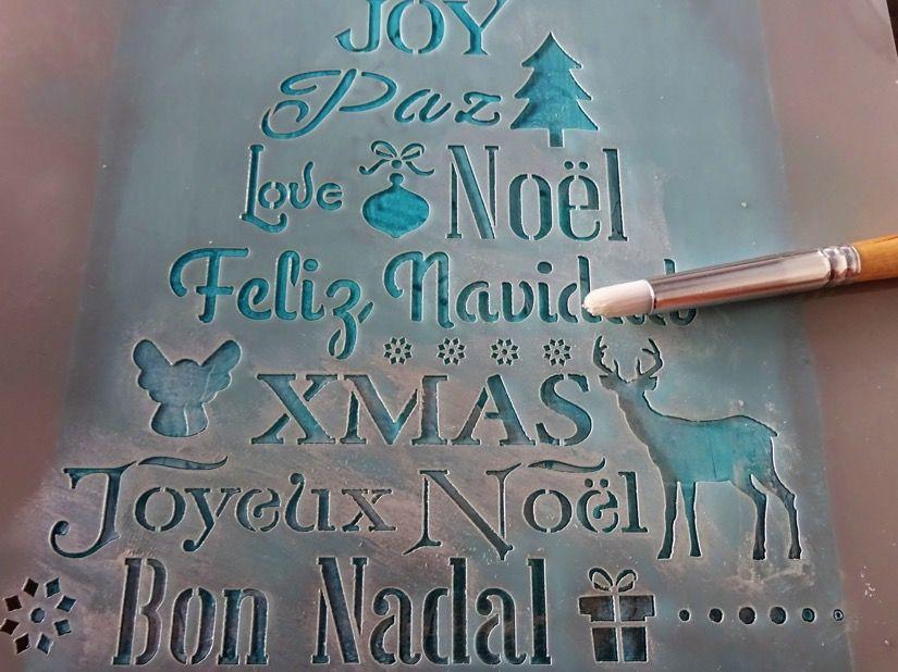 todostencil caja madera navideña