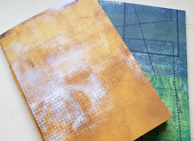 Cuadernillos midori con la colección Entretela de TodoStencil