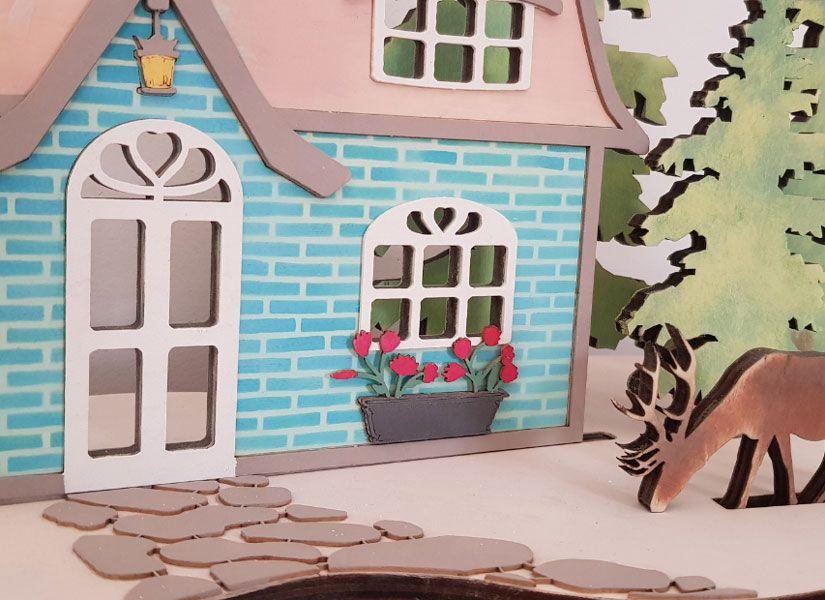 Cabaña primaveral decorada con stencil y Mya chalk paint de TodoStencil