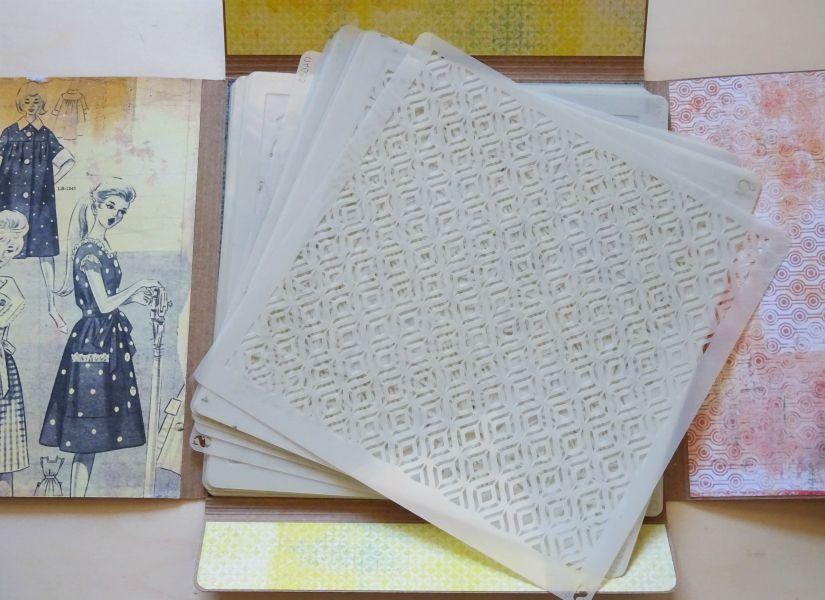 Carpeta para stencils decorada con colección entretela de TodoStencil