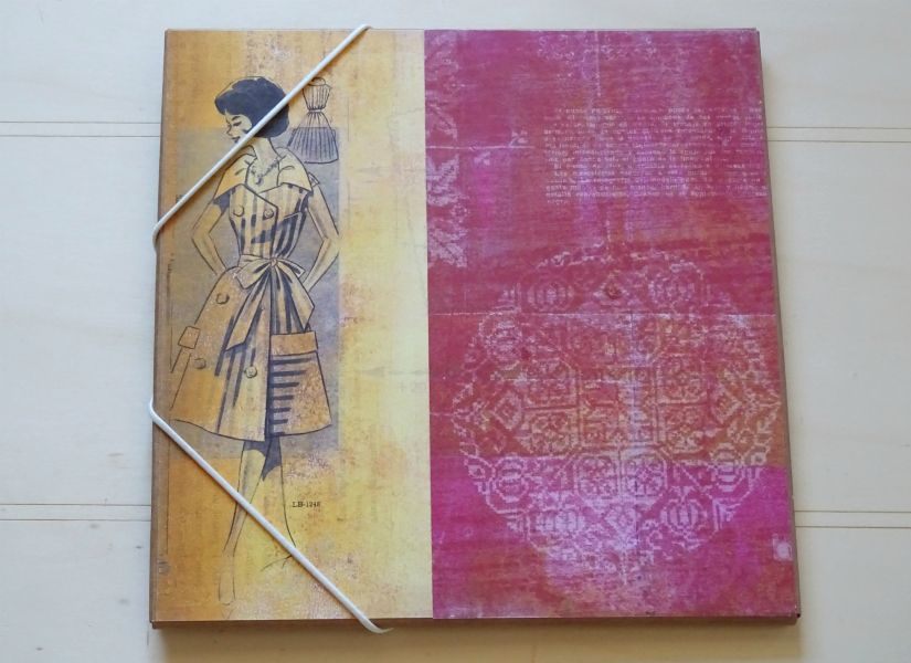 Carpeta para plantillas decorada con colección entretela de TodoStencil