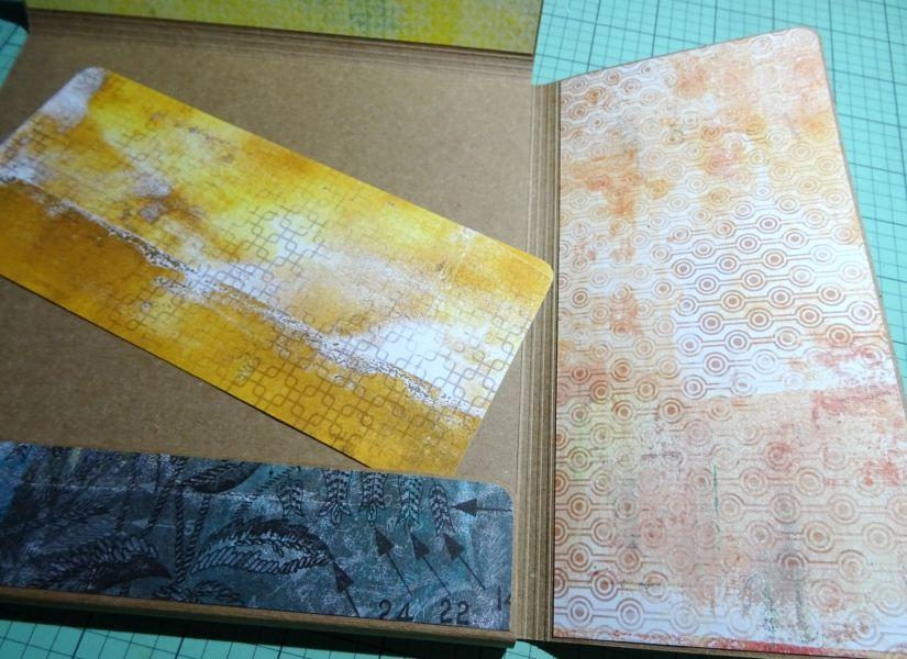 Carpeta para plantillas decorada con papeles entretela de TodoStencil