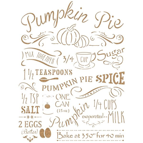Stencil pumpkin pie recipe halloween