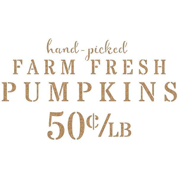 stencil farm pumpkin