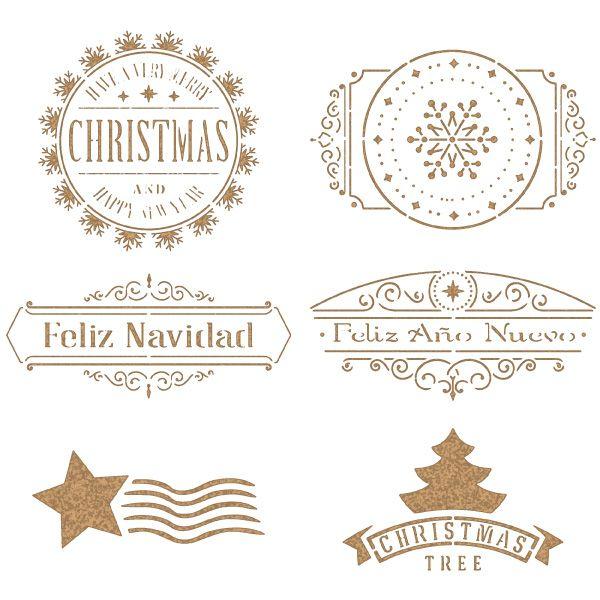 stencil cuños navidad