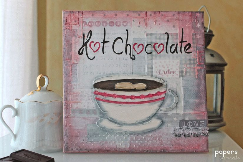 todostencil hot chocolate canvas